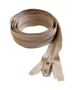 "Zipper, YKK, Beige 60"" inch #10 Marine Grade Double Metal Pull Tab Metal... - $8.83+"