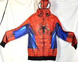 Spider Man Costume Hoodie Full Zip Jacket Marvel Cosplay Halloween Spide... - $19.34
