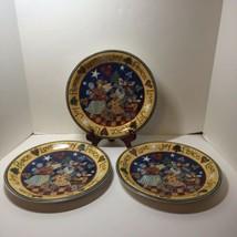 3 Dinner Plates Susan Winget Joy Peace Love Angels Certified International 10.5 - $24.18