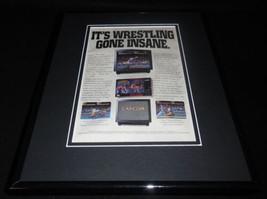 Saturday Night Slam Masters 1994 SNES 11x14 Framed ORIGINAL Advertisement - $22.55