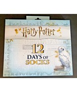 NWT Womens HARRY POTTER 12 Days of Socks Christmas Advent Calendar Sz 4-10 - $49.49