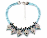 Irect wholesale major suit blue multi storey chain karma necklace fake stretcher 1 thumb155 crop