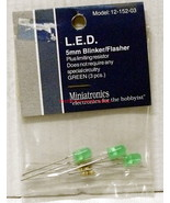 Miniatronics~#12-152-03~LED Blinker/Flasher~5mm~Green~w/Resistors~3Pcs - $8.00