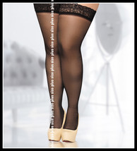 Lace Top 20 DEN Sheer Hold-Ups Stockings Various Colours Size 7 XXXXL PL... - $8.49