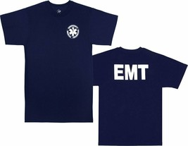 Navy Blue Official EMT Paramedic Double Sided T-Shirt - $10.99+