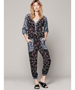 NWT FREE PEOPLE LEIA MULTICOLOR FLORAL JUMPSUIT ROMPER M - $99.99