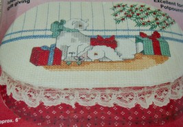 CAT & BUNNY BOX Whats New CHRISTMAS in the COUNTRY Cross Stitch Kit 0251... - $9.49