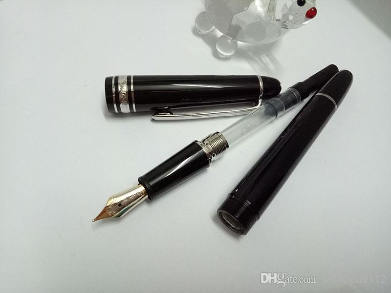 MB High Quality Best Design 145 Gold/silver Clip Fountain Pen for school office