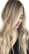 VeSunny Tape Hair Extensions Human Hair Blonde Ombre Dark Blonde to Plat... - $37.29