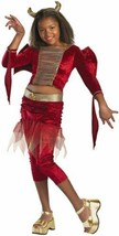 Disguise Club Lux Decked Out Girls Devil Halloween Costume 7-8 or 10-12 NIP