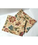 Ralph Lauren HIGHGATE WOODS Vtg Floral Pair Pillowcases Standard Size Ta... - $57.91