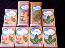 GREAT VALUE  Iced Tea with PEACH and SWEET TEA Drink Mix LOT OF 8 ~sugar... - $29.00