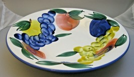 """Dansk Pasta Bowl Hand Painted Fruit Serving Bowl Tuscany Italy 10 1/4"""" - $24.99"""