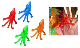 Multi Colored Plastic Cocktail Octopus Drink Markers (72) - Drink Decora... - $9.79