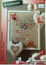 Zweigart Booklet 253 Cross Stitch Pattern Christmas Trees Angel Santa St... - $12.30