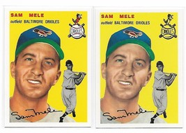 1954 Topps Archives Baltimore Orioles Sam Mele #240 Gold & Regular 2Cards image 1
