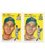 1954 Topps Archives Baltimore Orioles Sam Mele #240 Gold & Regular 2Cards - $1.28