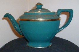 Hall China Hollywood Teapot - 6 Cup - Vintage - #0120 - Forest Green - G... - $42.77