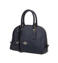 NWT Coach F57555 mini Sierra Satchel Crossgrain Leather Handbag Midnight... - $158.40
