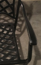 Patio dining chairs set of 4 All-weather outdoor cast aluminum furniture seats image 5