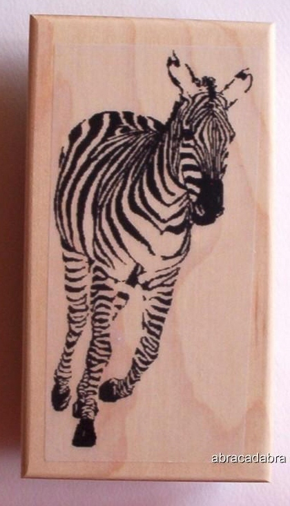 ZEBRA RUNNING AT YOU ~ NEW RELEASE! rubber stamp