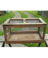 Small Animal Cage Wood & Wire Rabbit Chicken - $15.00