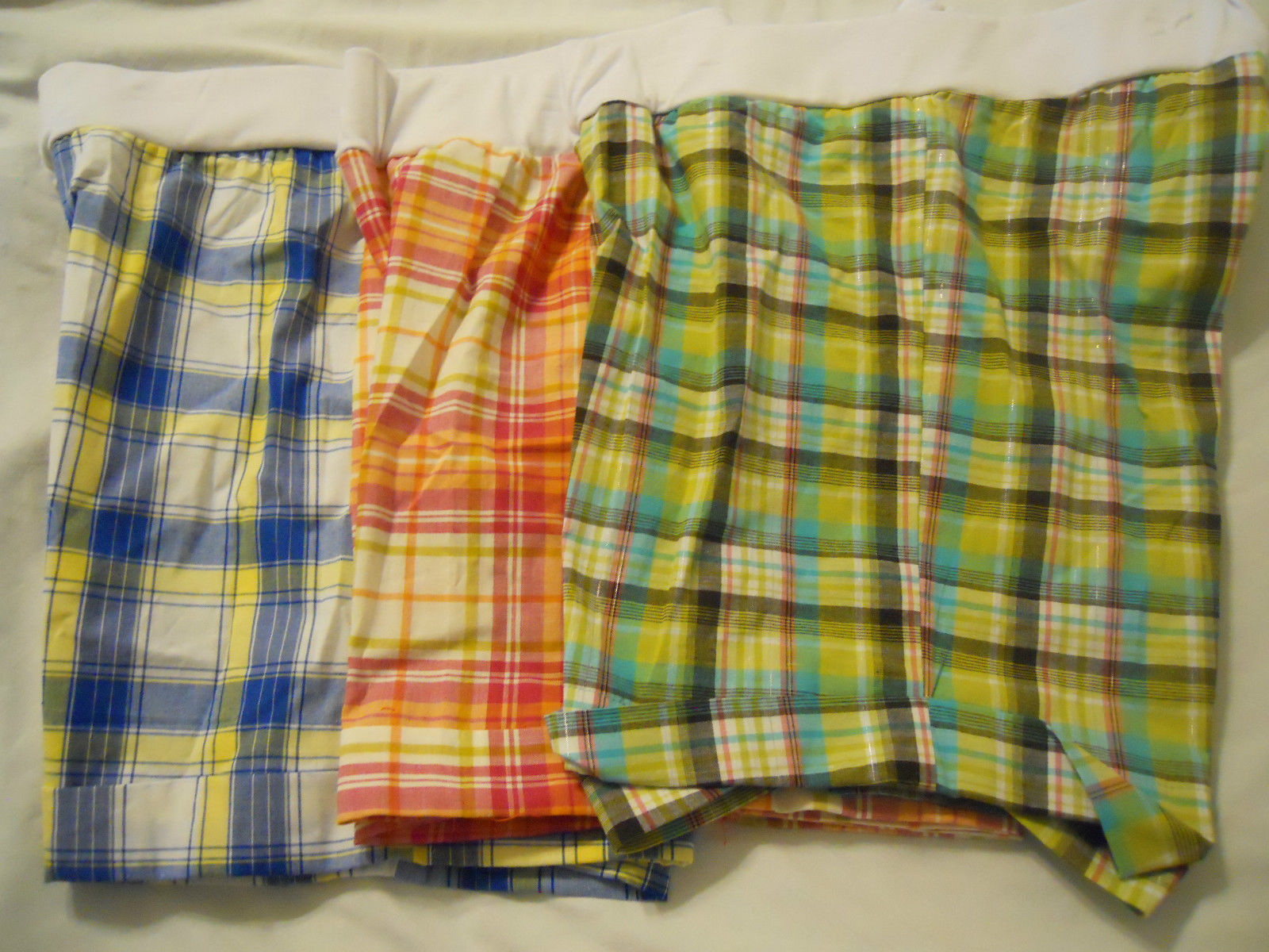 Primary image for NEW Womens Maternity Shorts Sophia Jayne Sz S M L XL  NWOT Plaid Green Blue Pink