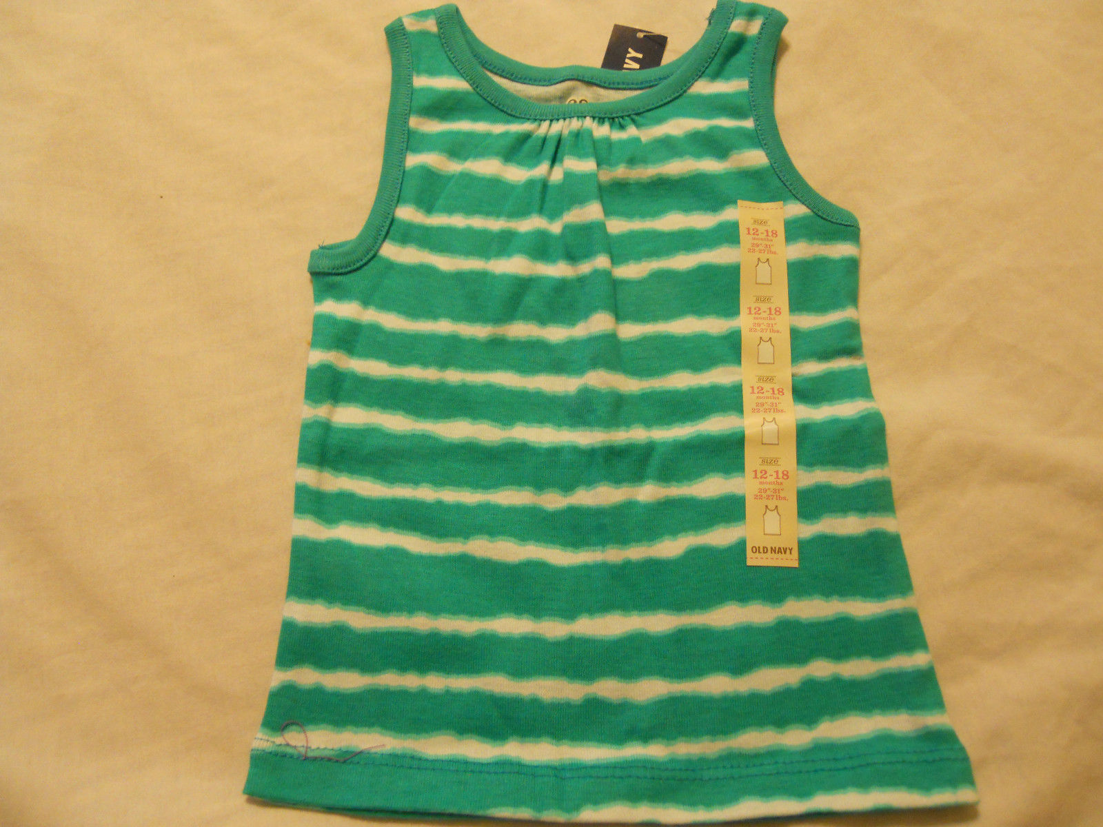 Old Navy Baby Girls Shirts Infants Toddlers Sleeveless Tank Top Solid Striped