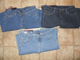 NEW Girls Bootcut Jeans  Blue Medium Dark Wash Size 4 6 8 10 12 14 16 MidRise - $13.98