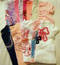 NEW Girls Tee Shirts Baby Toddler Graphic Ruffle Tops Print Short Sleeved - $8.98