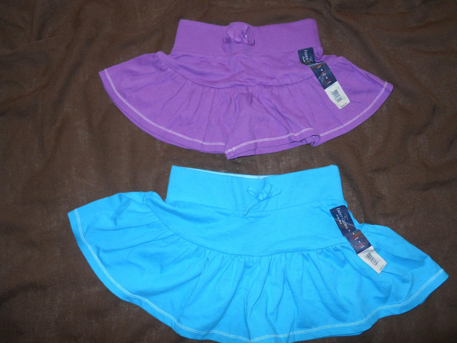 Girl Faded Glory Blue Scooter Skirt Skort Size XS S M L XL Denim NEW