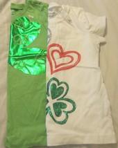 St Patrick's Day Girls T Shirt St Patty's Day Old Navy U Pick Green White Clover - $14.98