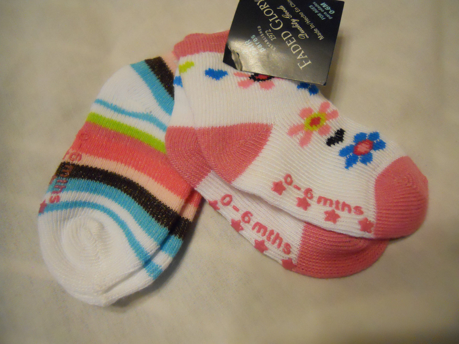 New Circo Kids Thick with grippers Socks Warm Slipper Socks 6-12 mos 2 layers