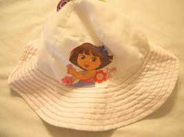 Baby Girls Bucket Hats Sun Hat UPF 50 Toddlers Kids White Pink Dora The ... - $10.99