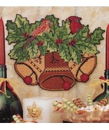 Christmas Festive Wall Hanging Bells Cardinal P-Canvas PATTERN/INSTRUCTIONS - $2.67