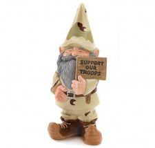 Gnome Statue Garden Patio Porch Lawn US Military Support Yard Art - $29.99