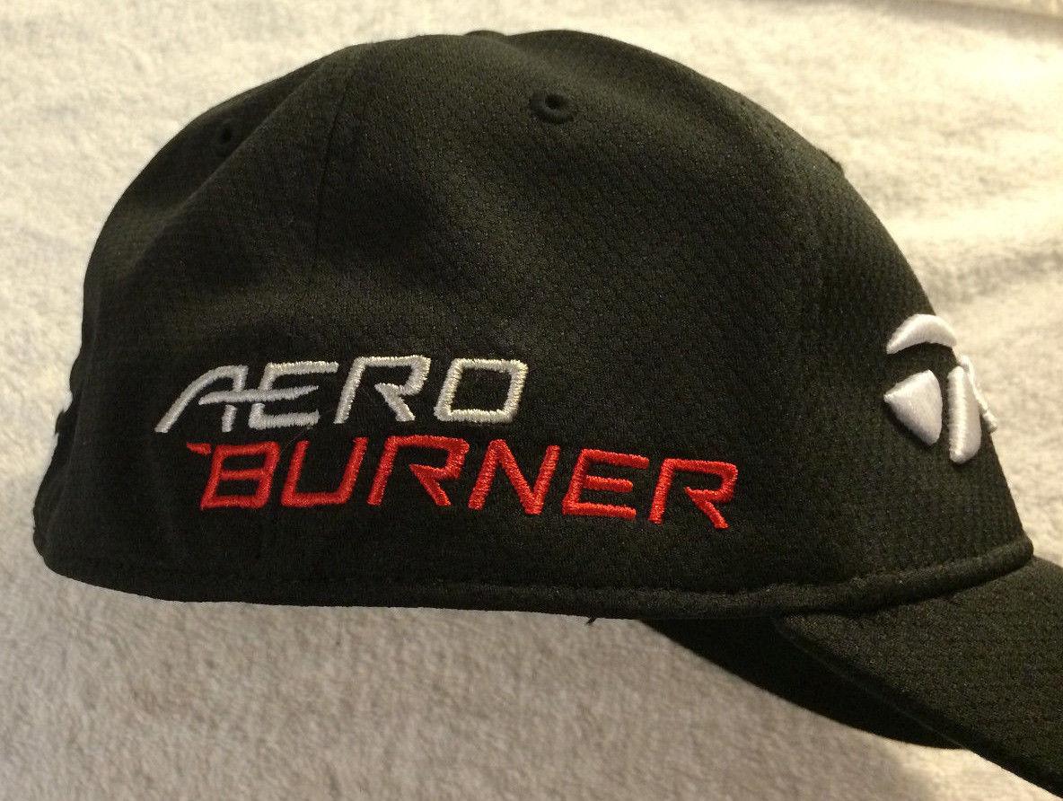02110904e26 TaylorMade R15 Hat Cap Aero Burner Flex Fit S M BLACK Golf Apparel