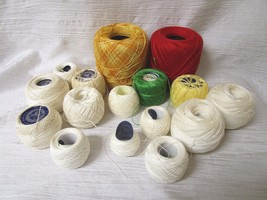 Mixed Lot of Crochet Cotton - 16 in all - various colors - DMC, Coats & ... - $17.99