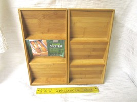 Set of 2 In Drawer Seville Classics Bamboo  Spice Rack Drawer Tray Brand... - $45.00