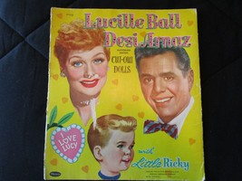 1953 Lucy Ball, Desi Arnaz, Ricky Paper Doll with Clothing & Access. - W... - $39.99