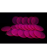 Blacklight Reactive Pink 6 Inch Plastic Party Plates- 20 ct. - $9.95