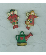 Three Gardener's Snap On Resin Button  Covers  - $5.99