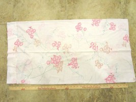 Vintage Cannon Monticello King Pillow Case, Pink & White Floral -  poly/... - $12.99