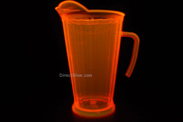 Neon Orange Blacklight Reactive 60oz Plastic Pitcher - $10.50