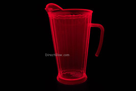 Neon Pink Blacklight Reactive 60oz Plastic Pitcher - $10.50