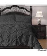 Queen size 4-Piece Charcoal Microfiber Comforte... - $159.99