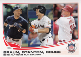 Braun/Stanton/Bruce 2013 Topps Series 1 League Leaders Card #246 - $0.99