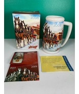 2008 Budweiser Holiday Beer Stein Clydesdale Horses 20 oz +COA 75th Anni... - $19.79