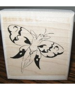TINY NUDE BUTTERFLY FAIRY BUTTERFLY NEW mounted rubber stamp - $6.00