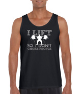 I Lift So I Don't Choke People Fitness Workout Lifting Tshirt - $22.99+